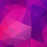 Violet Abstract Polygonal Background. Violet abstract low-poly, polygonal triangular mosaic background for design concepts, wallpapers, posters, web Vector Illustration
