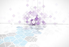 Violet abstract square geometric background for web solution tec. Violet abstract square geometric background for web solution design template Stock Image