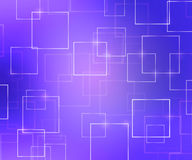 Violet Abstract Squares Background Fotografia Stock