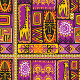 Violet afrikan pattern Royalty Free Stock Photos