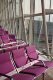 Violet Air port seat Royalty Free Stock Photos