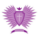 Violet ancient emblem Stock Photo