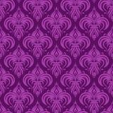 Violet antiek naadloos behang Stock Afbeeldingen