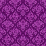 Violet antique seamless wallpaper Stock Images