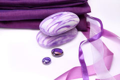 Violet aromatic soap Stock Image