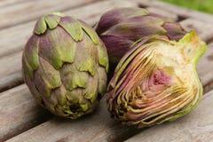 Violet artichoke Royalty Free Stock Image