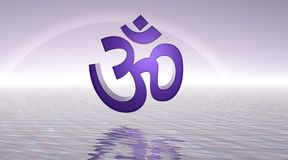 Violet aum / om Royalty Free Stock Image