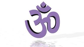 Violet aum / om with little reflect Stock Images
