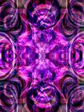 Violet background. Made of diffused tubes. Illustration made on computer Royalty Free Stock Photography