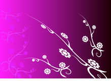 Violet background. With white flowers Stock Image