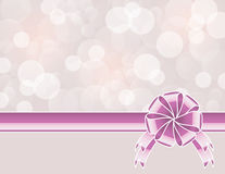 Violet background with bow Royalty Free Stock Photo