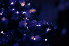Violet background with christmas tree Royalty Free Stock Photo