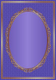Violet background. With golden frame Royalty Free Stock Images