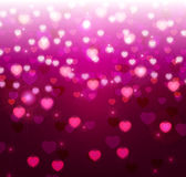 Violet background with hearts Royalty Free Stock Photography