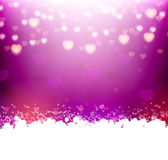 Violet background with hearts and text frame Stock Images