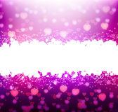Violet background with hearts for your text Royalty Free Stock Photos