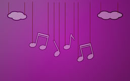 Violet background with music Stock Images