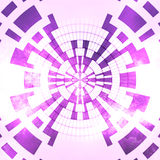 Violet Background rose blanche rougeoyante abstraite Image libre de droits