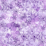 Violet background with snowflake Stock Photos