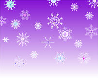 Violet background with snowflakes Royalty Free Stock Photography