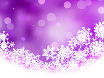 Violet background with snowflakes. EPS 8 Royalty Free Stock Images