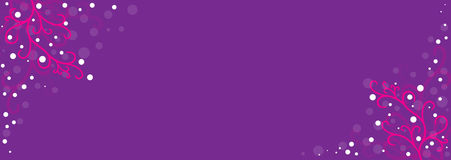 Violet background with spring ornaments Stock Photography