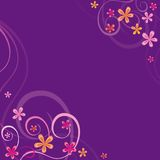 Violet background with spring ornaments Royalty Free Stock Photography