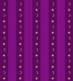 Violet background with sun and moon Royalty Free Stock Photos