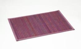 Violet bamboo place mat Stock Photos