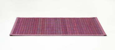 Violet bamboo place mat. Stylish violet bamboo placemat - fully open Royalty Free Stock Photo