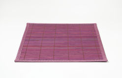 Violet bamboo place mat Royalty Free Stock Photo