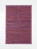 Violet bamboo place mat Stock Photography
