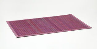 Violet bamboo place mat Stock Images