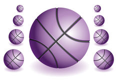 Violet Basketballs Stock Photo