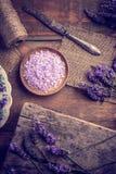 Violet bath salt Royalty Free Stock Photos