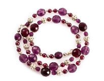 Violet beads Stock Photography