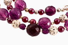 Violet beads Royalty Free Stock Photo