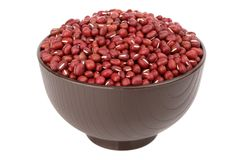 Violet bean in the bowl Stock Images