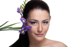 Violet beauty Stock Photography