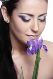 Violet beauty Stock Photo