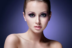 Violet beauty Stock Images