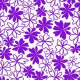 violet bezszwowy tło kwiat Zdjęcie Royalty Free