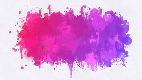 Violet blobs brush strokes background. Vector version Stock Photography