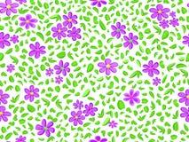 Violet bloemen naadloos patroon Stock Afbeelding