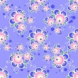 Violet bloemen naadloos patroon Royalty-vrije Stock Afbeeldingen