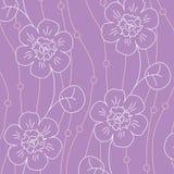 Violet bloemen naadloos patroon Stock Foto