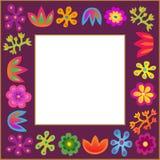 Violet bloemenframe Stock Fotografie