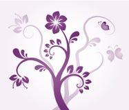 Violet Bloemenornament Stock Afbeeldingen