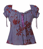 Violet blouse Stock Photography