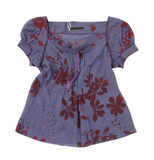 Violet blouse Stock Photo
